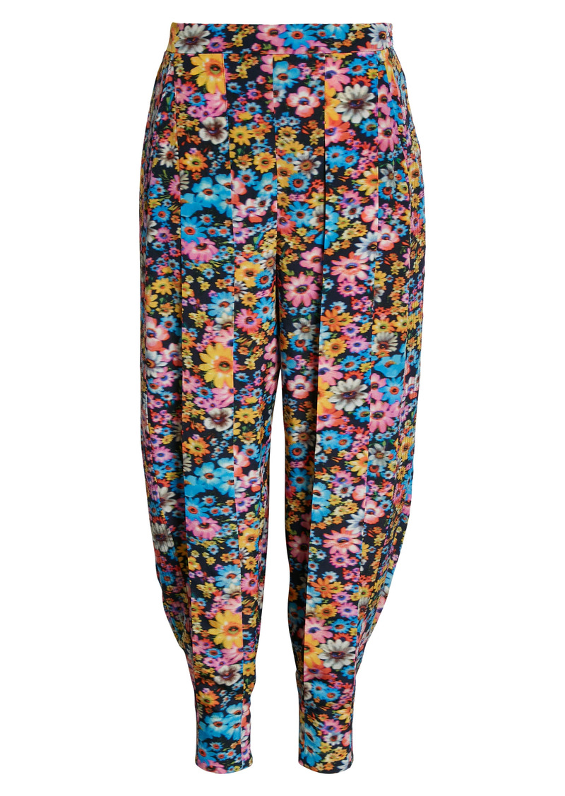 Women's Stella Mccartney Christelle Floral Print Silk Joggers