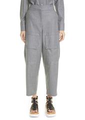Stella McCartney Kaiya Crop Wool Cargo Pants