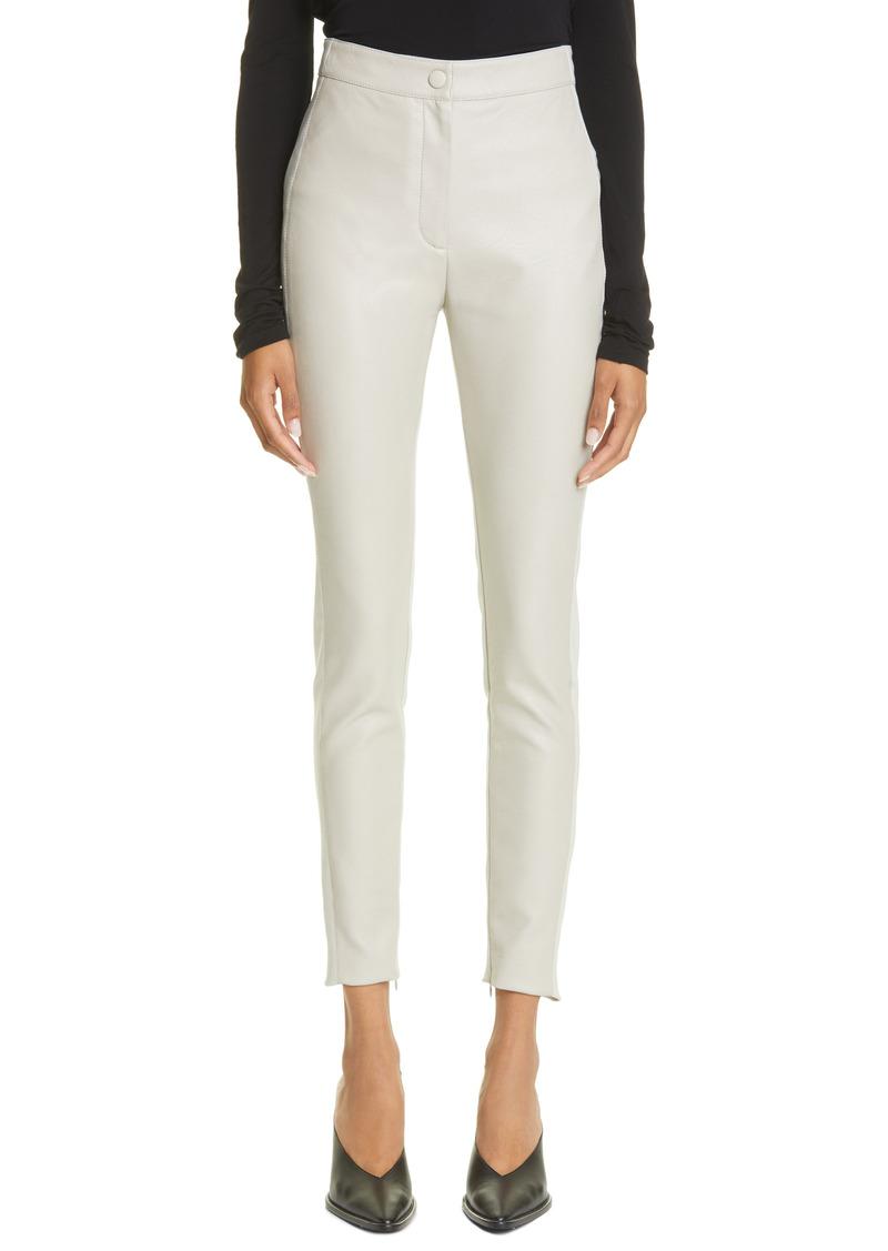 Stella McCartney Kelly Faux Leather & Knit Skinny Pants