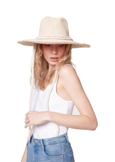 Steve Madden Frayed Trim Floppy Fedora Hat