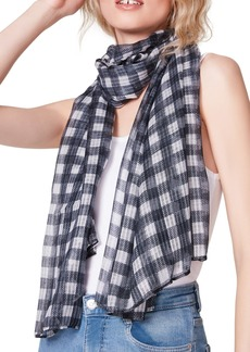 Steve Madden Honeycomb Textured Gingham Knit Neck Scarf