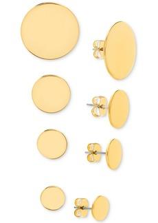 Steve Madden Four Piece Circle Stud Earring Set