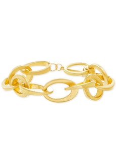 Steve Madden Gold-Tone Interlocking Link Bracelet