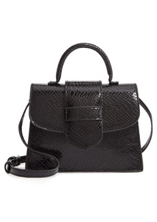 Steve Madden Lizard Embossed Faux Leather Top Handle Satchel