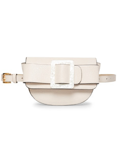 Steve Madden Oversize-Buckle Pebble-Faux-Leather Belt Bag