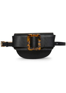 Steve Madden Oversize-Buckle Pebble-Faux-Leather Belt Bag