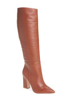 Steve Madden Showbiz Pointed Toe Knee High Boot (Women) (Wide Calf)