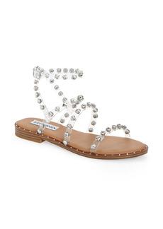 Steve Madden Travel Crystal Studded Strappy Sandal (Women)