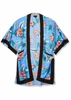 Steve Madden Women's Classic Kimono Duster light blue ONE SIZE