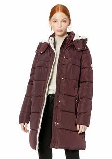 Steve Madden Women's Faux Down Puffer Jacket  L