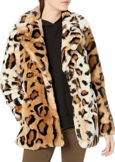 Steve Madden Women's Faux Fur Fashion Jacket  S