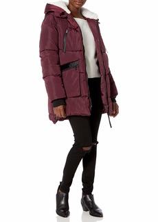 Steve Madden Women's Puffer Parka Jacket  L