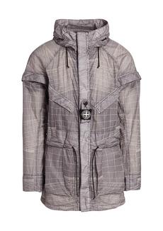 Stone Island Lucid Grid Hooded Jacket