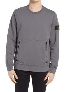 Stone Island Men's Zip Pocket Sweatshirt