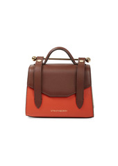 Strathberry Micro Allegro Bi-Color Leather Satchel