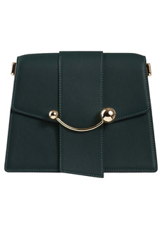 Strathberry Box Crescent Calfskin Leather Shoulder Bag