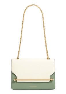 Strathberry East/West Colorblock Leather Shoulder Bag