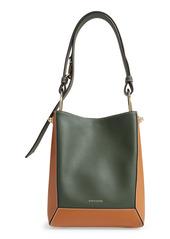 Strathberry Lana Midi Bicolor Leather Bucket Bag