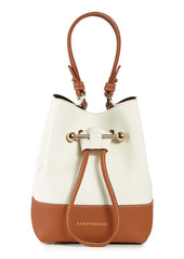 Strathberry Lana Osette Bicolor Leather Crossbody Bucket Bag