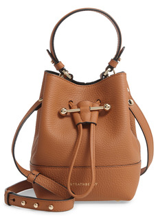 Strathberry Lana Osette Leather Crossbody Bucket Bag