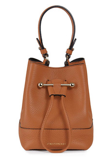 Strathberry Midi Lana Ossette Leather Crossbody Bucket Bag
