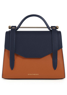 Strathberry Mini Allegro Colorblock Calfskin Leather Tote