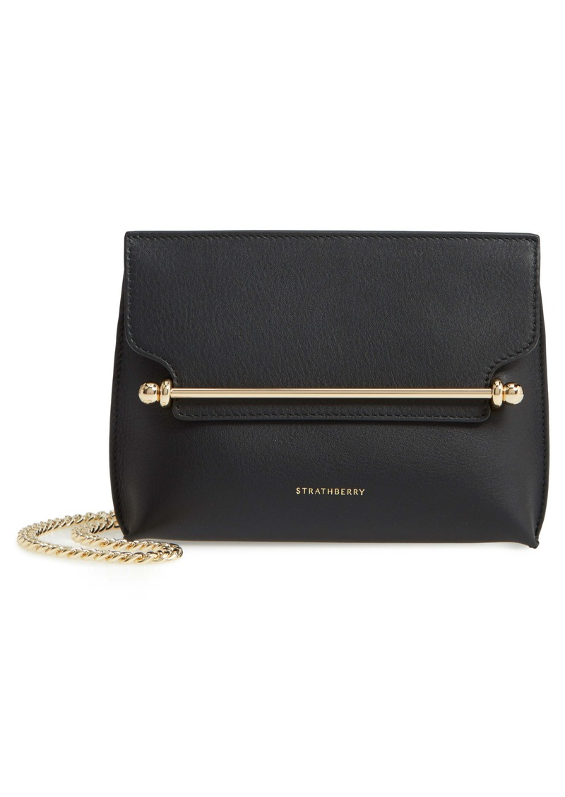 Strathberry Mini Stylist Calfskin Leather Convertible Clutch