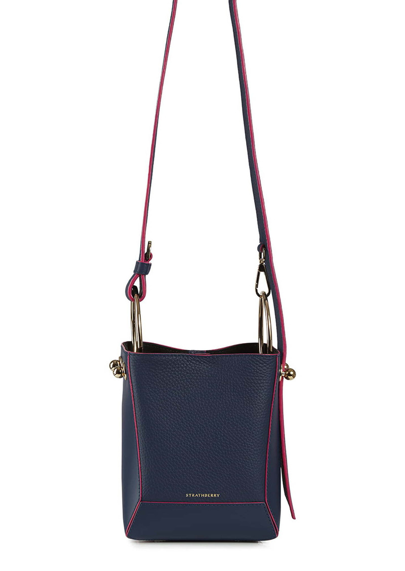Strathberry Nano Lana Calfskin Leather Bucket Bag