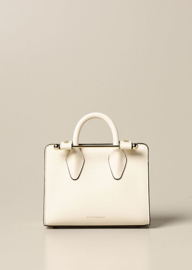 Strathberry Handbag Strathberry Nano Tote Bag In Grained Leather