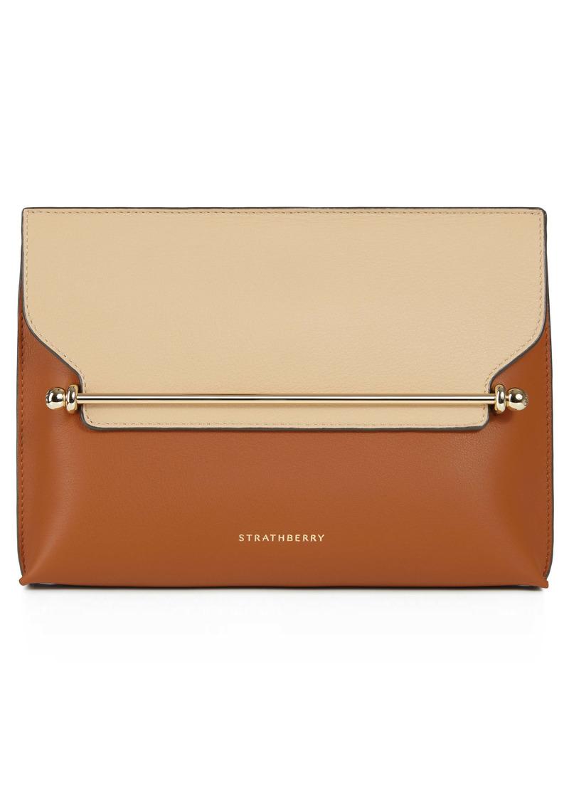 Strathberry Stylist Bicolor Leather Shoulder Bag