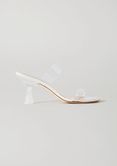 Stuart Weitzman Kristal Pvc And Leather Mules