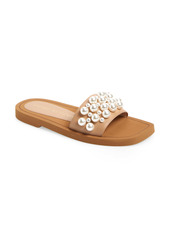 Stuart Weitzman Goldie Imitation Pearl Slide (Women)