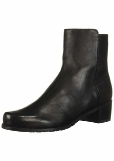 Stuart Weitzman Women's EASYON RESERVE Chelsea Boot Black Dress Str Nappa  Medium US
