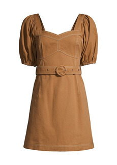 Suboo Museo Iman Balloon-Sleeve Mini Dress
