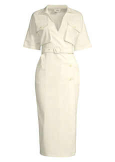 Suboo Museo Lila Button Wrap Dress