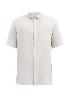 Sunspel Linen short-sleeved shirt