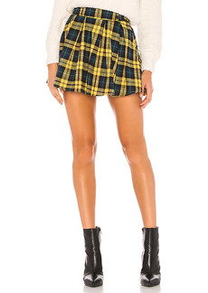 superdown Evy Pleated Buckle Skirt