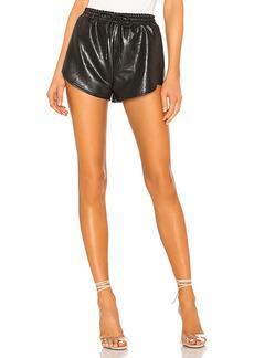 superdown Kiki Faux Leather Shorts