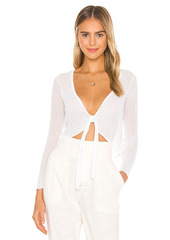 superdown Liv Tie Front Knit Top