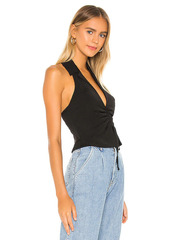 superdown London Ruched Front Top