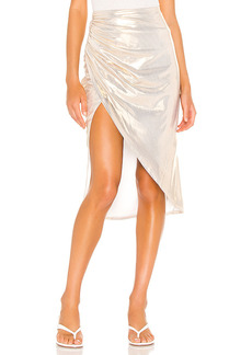 superdown Topanga Slit Midi Skirt