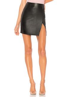 superdown Trinity Faux Leather Skirt