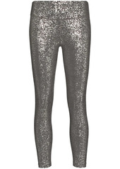 Sweaty Betty foil print metallic leggings