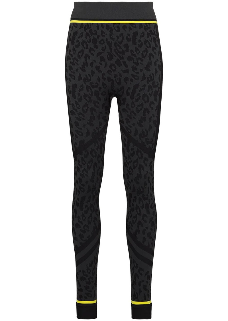 Sweaty Betty leopard print ski leggings