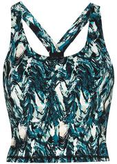 Sweaty Betty marble print cropped tank top