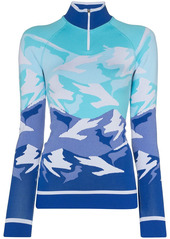 Sweaty Betty mountain-print ski base layer