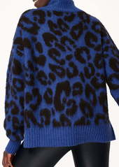 Sweaty Betty Animal Jacquard Turtleneck Sweater