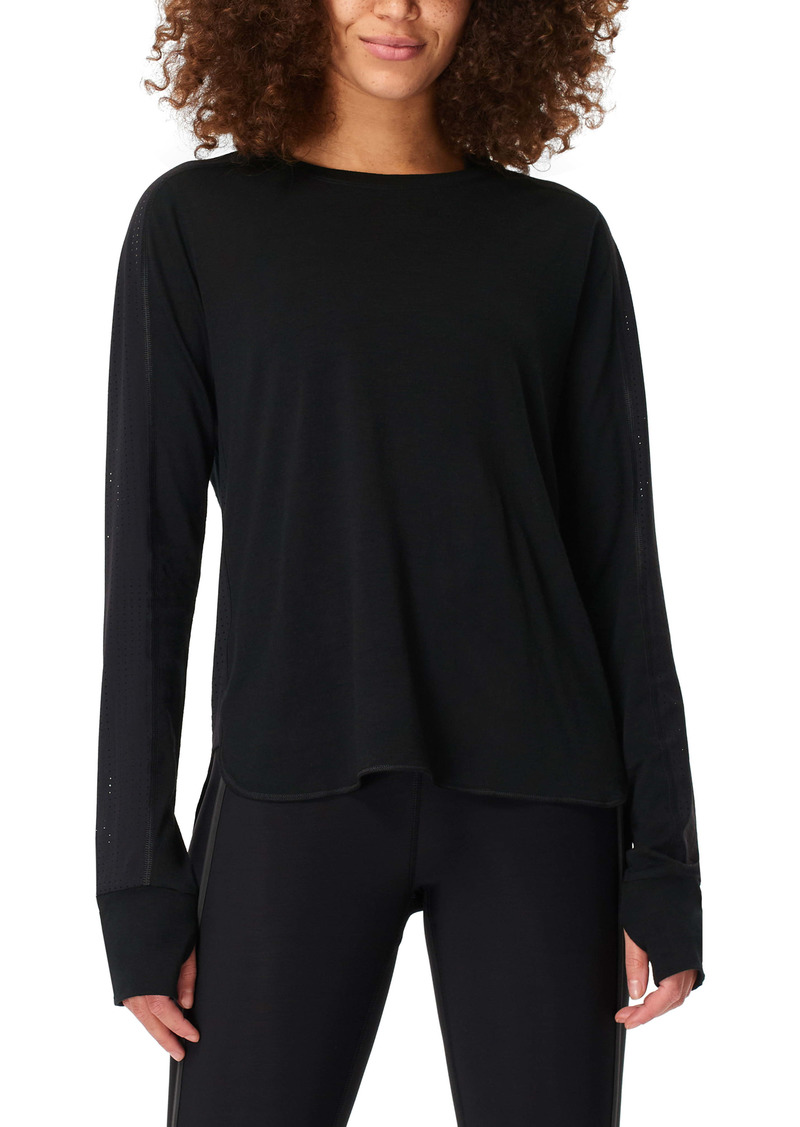 Sweaty Betty Breeze Wool Blend Long Sleeve Running Top