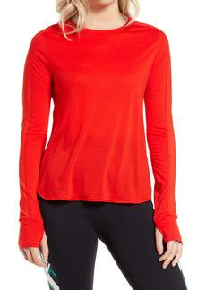 Sweaty Betty Breeze Wool Blend Long Sleeve Running Top
