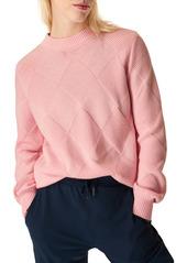Sweaty Betty Diamond Knit Cotton & Wool Sweater
